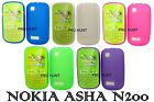 Purple Black Transparent Gel Silicone Case Cover For Nokia Asha N200/N201