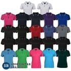 Ladies Piping Polo Shirt Sports Quick Dry Size 8-24 Team Club Contrast New 7LPI