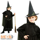 Wicked Witch + Hat Girls Fancy Dress Wizard of Oz Kids Childrens Costume Outfit