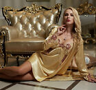 2017 Newest Elegant Silk Blend 2pcs Women's Sleepskirt/ Pajama Sets M/L/XL/2XL
