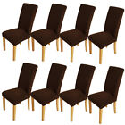 8Pcs Removable Slip Cover 2 Colors Protector Stretch Dining Room Chair Covers