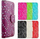 DIAMOND BLING WALLET FLIP CASE COVER POUCH FOR MOBILE PHONES + SCREEN PROTECTOR