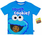 Boy's Sesame Street Tough Cookies Cookie Monster Toddler T-Shirt Top 1-4 Yrs NEW