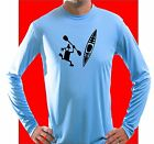Kayak Microfiber Long Sleeve T Shirt UPF 50 Solar kayak canoe water sports boat