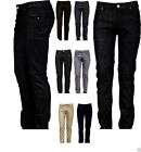 Victorious Mens Skinny Fit Jeans Raw Denim Pants Casual Stretch Trousers