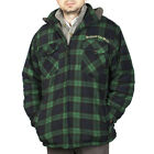Men's 'Scotland the Brave' Hooded Sherpa Jacket - Black Watch - Range of Sizes!