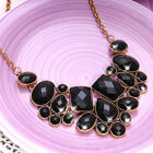 Fashion Ladies Crystal Charms Stones Chunky Necklace Statement Chain For Women