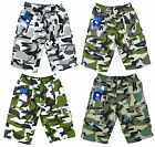 Boy's Microfibre Army Camo Camouflage Combat Shorts 3-14 Years NEW