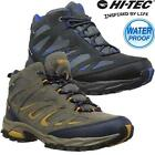 Mens Hi Tec Fusion Leather Walking Hiking Waterproof Trainers Boots Shoes Size