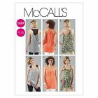McCalls 6359 Easy Racer Back Vest Tunic Top XS - Plus Size Sewing Pattern M6359