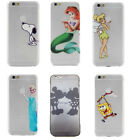 Disney Characters Cartoon Snoopy Dog Transparent Case Cover For iPhone 5S 5C