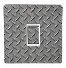 CHECKER / DIAMOND PLATE light switch sticker cover / skin decal. (Image 1)