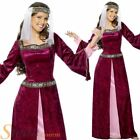 Ladies Deluxe Maid Marion Costume Fancy Dress Medieval Robin Hood Adult Outfit