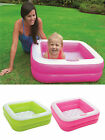 INTEX PLAY BOX SQUARE BABY TODDLER PADDLING SWIMMING POOL SOFT INFLATABLE FLOOR