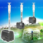 VUS Submersible Pump Aquarium Pond Water Hydroponic Fish Tank Powerhead Fountain