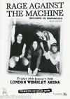 POSTER:MUSIC: RAGE AGAINST THE MACHINE - LONDON  - FREE SHIPPING       RP90 G