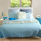 Queen Sheridan Azuma Mint Reversible Quilt cover+2 pillowcase Cover Set