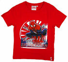 Boys Marvel Crouching Spiderman Classic Red T-Shirt Top Tee 3 to 8 Years NEW