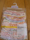 MARKS AND SPENCER 3 PACK 100% COTTON FRILLY KNICKERS PINK STRIPE SPOT MULTI 3 6