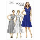 Vogue 8577 EASY Flared Button Front Dress Retro 50s Sewing Pattern V8577 3 in 1!