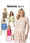 Butterick 6175 Top Peter Pan Collar Scallops Sleeves Sewing Pattern B6175 5 in 1