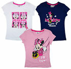 Girl's Disney Minnie Mouse So Fun Cotton T-Shirt Top Tee 3 4 6 8 Years NEW