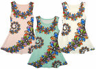 Girl's Sleeveless Daisy Chain Flower Garland Summer Dress 3 to 14 Years NEW