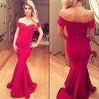 Fashion Sexy Women Short Sleeve Ball Cocktail Party Dress Formal Evening Dress
