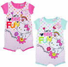 Baby Girls Charmmy Kitty Lets Have Fun Baby Romper Suit 3 6 12 18 Months NEW