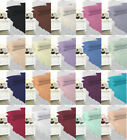 Polycotton Plain Dyed Quality Bed Sheets Fitted, Flat , Valance, All Sizes