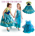 Frozen Fever New Anna Elsa Princess Kids Costume Party Fancy Birthday Gift Dress