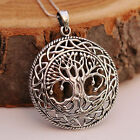 Sterling Silver Celtic Tree Of Life Pendant Necklace On Antique Finish Handcraft