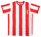Royal Antwerp 1960s Stripe Retro Football T Shirt New Sizes S-XXL Embroidered