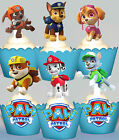 Paw Patrol Party EDIBLE XL Vanilla Cupcake Toppers 12 designs PRE-CUT cup cake