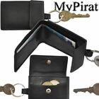 3 small Wallets as keychain Cattle leather 002