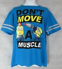Depicable Me Minions Boys T-shirt New Don't Move a Muscle L 10/12 Free Shipping