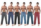 Mens Boys Designer Pyjama bottoms cotton pjs lounge pants Tartan Check Nightwear