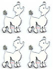 Wholesale Lot Poodle Charm Metal Pendant DIY jewelry Make Gifts H152