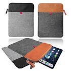 Felt Sleeve Case Cover Bag Vertical Felt Leather sleeve with ZIP for Apple iPad