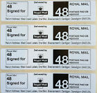 Royal Mail Second Class SIGNED FOR 48 PPI Postage Labels with Return Address