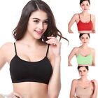 Women Seamless Bra Sport Push Up Thin Smooth Pure Color Yoga Camisol Shapewear