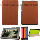 "Slim Leather Tri-Fold Case Cover For ASUS Transformer Book T100 10.1"" Tablet"