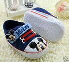 Baby Boys Mickey Mouse Dark Blue Disney Casual Shoe.. Pre Walker Shoe