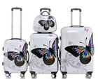 Reisekoffer Hartschalenkoffer Trolley Set Beautycase BB Schmetterling