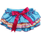 Beach Party Ruffle Satin Diaper Cover Bloomers Cotton Girl Toddler Baby Blue