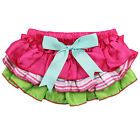 Garden Party Ruffle Satin Diaper Cover Bloomers Cotton Girl Toddler Baby Pink