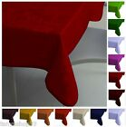 Quality Extra Large Rectangular Fabric Tablecloth Plain 2 Sizes 9 Colours