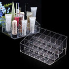 Women's Clear Acrylic 24 Lipstick Holder Cosmetic Organizer Display Makeup Case
