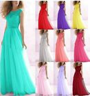 2015 Bateau Evening Formal Party Ball Gown Prom Bridesmaid Dress Size 6-18
