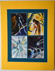 SPACE GHOST COLLAGE PRINT PROFESSIONALLY MATTED Hanna Barbera Alex Ross art